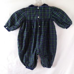 Carter's One Pieces - Carters vintage jumpsuit romper 90s plaid snaps